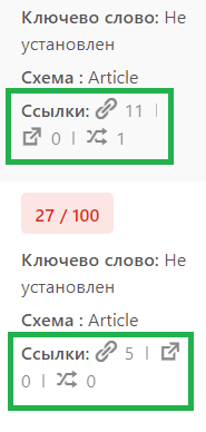 Счетчик ссылок (Link Counter) плагина Rank Math SEO